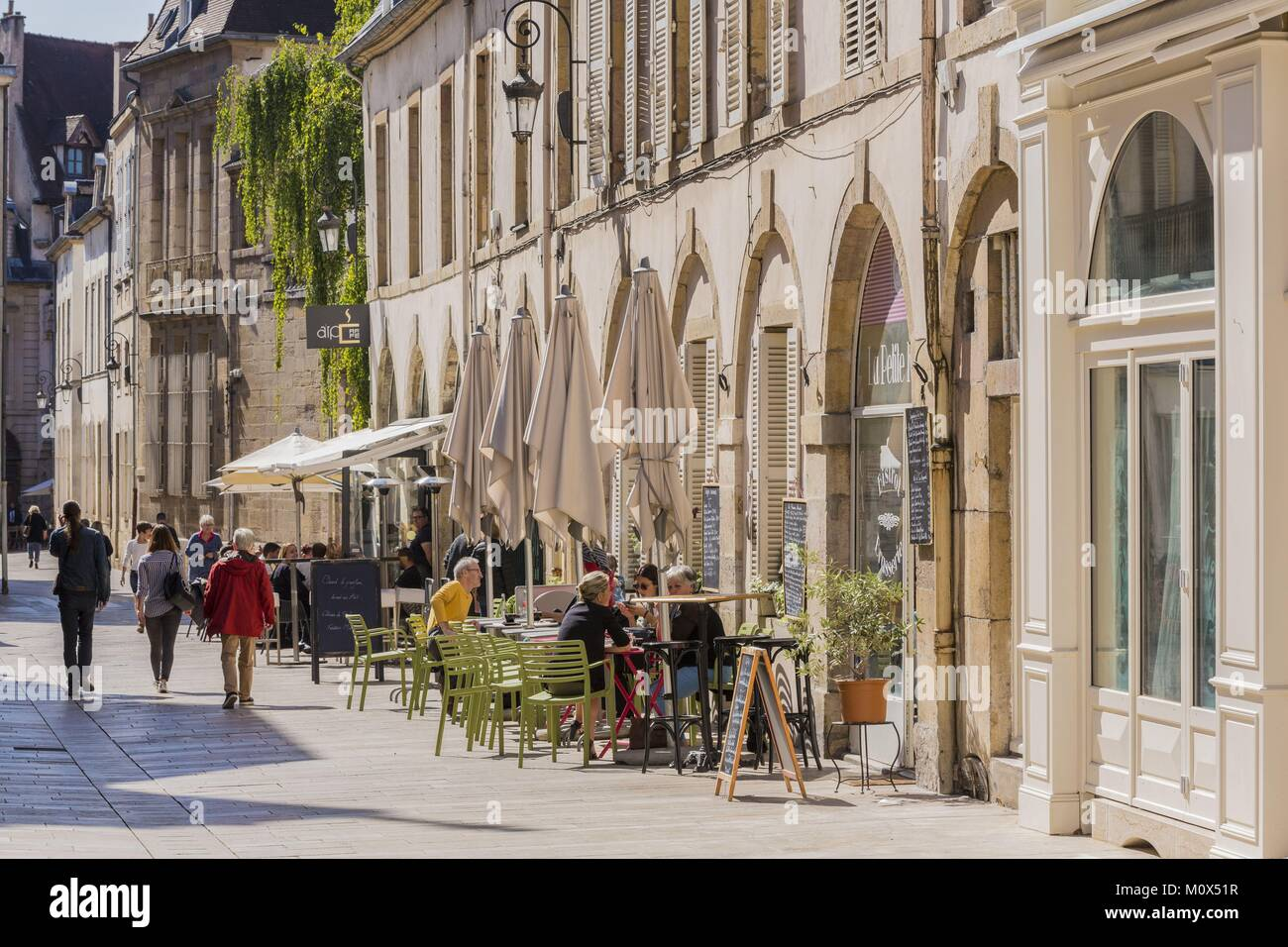 France,Côte d'Or,Dijon,street Vauban,classified city center World heritage of the UNESCO - Stock Image