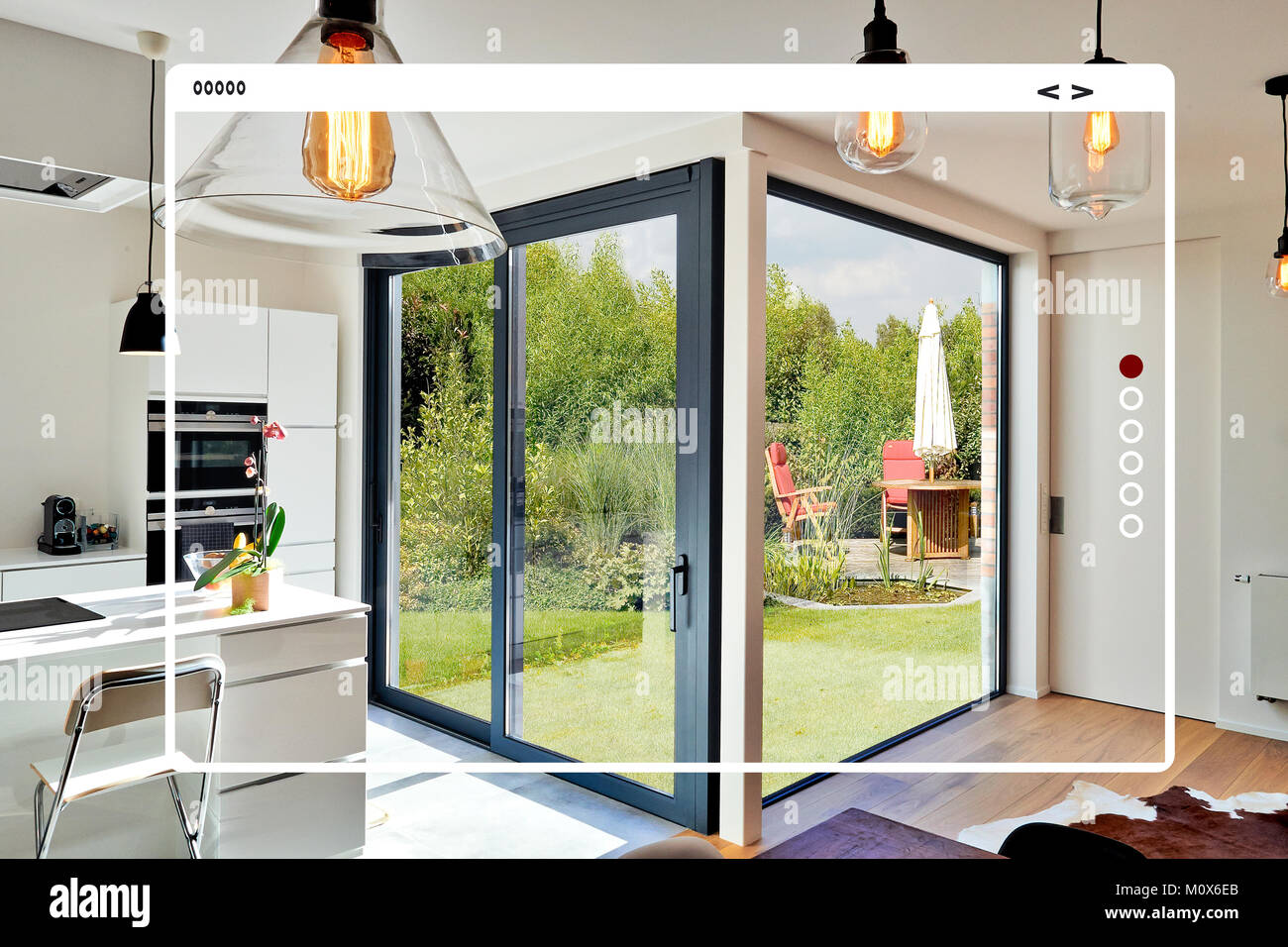 modern site web interface for gallery.open modern kitchen from loft