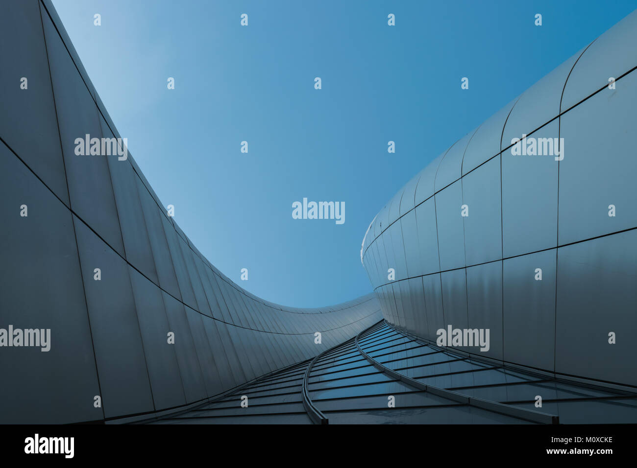 view of hadid tower in city life, milan - Stock Image