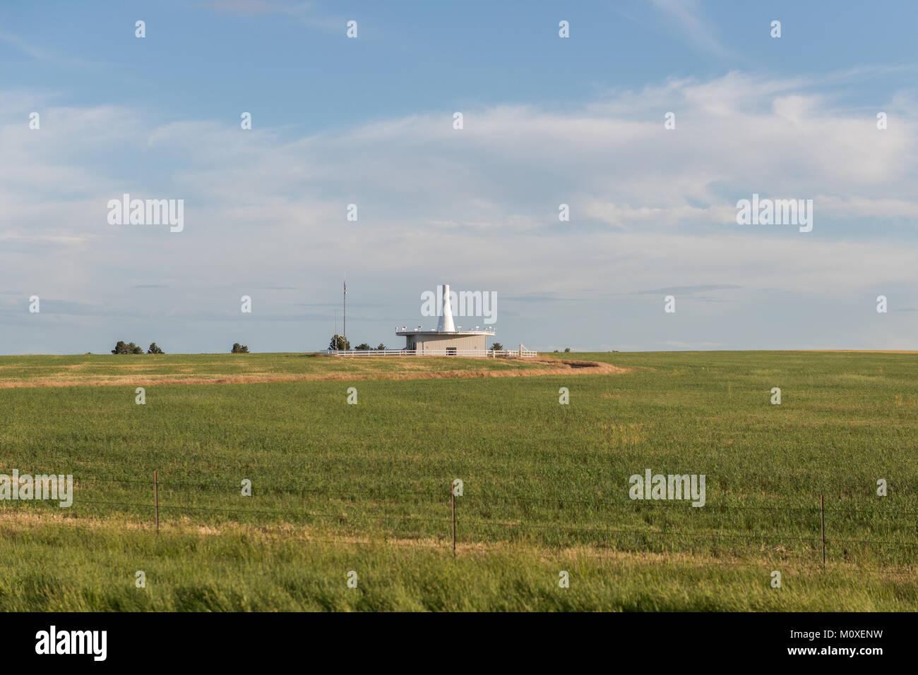 Aviation Navigation Radio Station - VORTAC - Stock Image