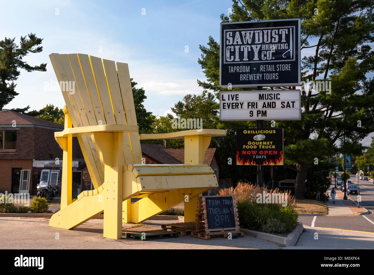 a very large muskoka or adirondack chair in gravenhurst ontario