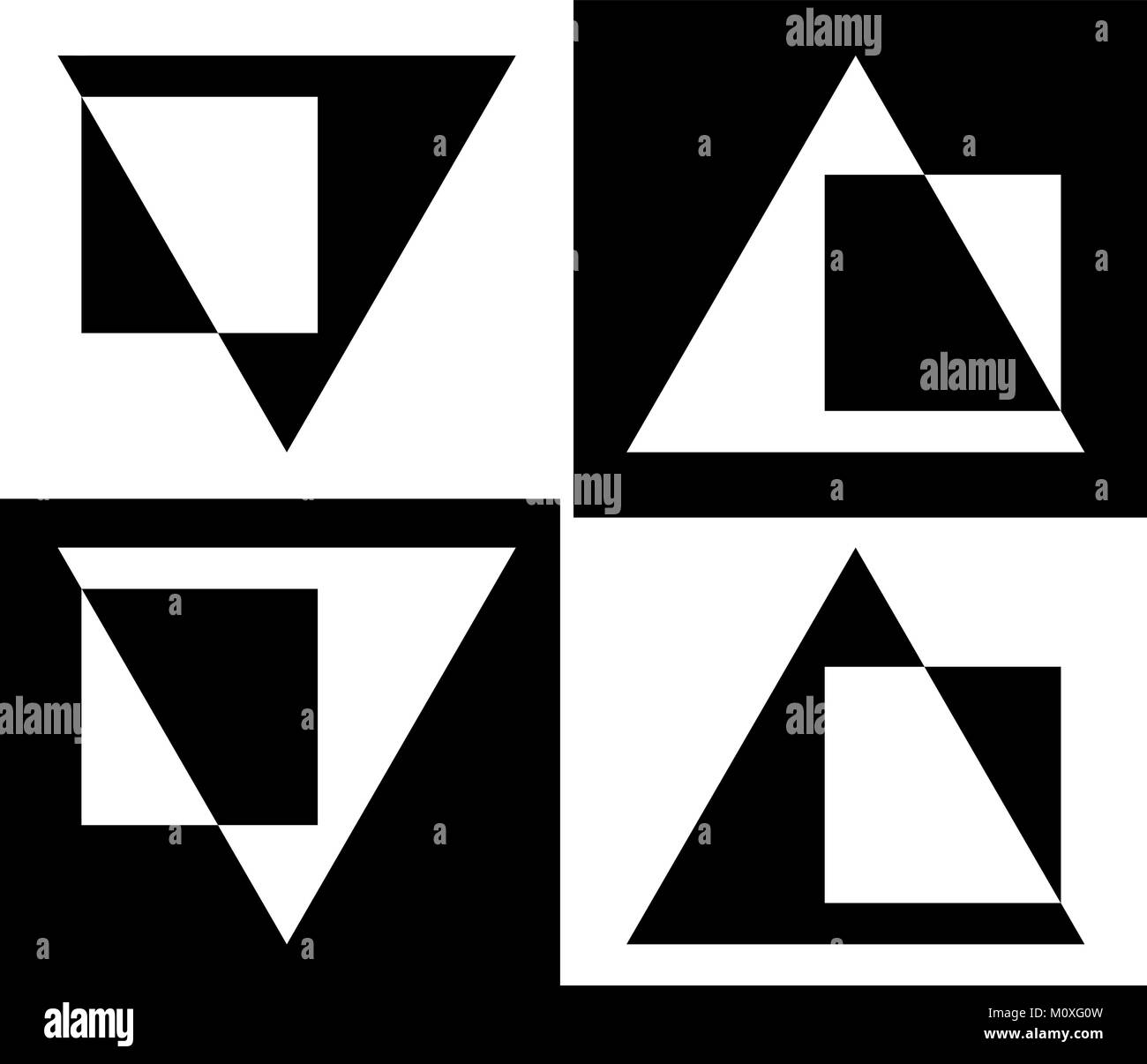 abstraction from triangles and squares design business logo - Stock Vector