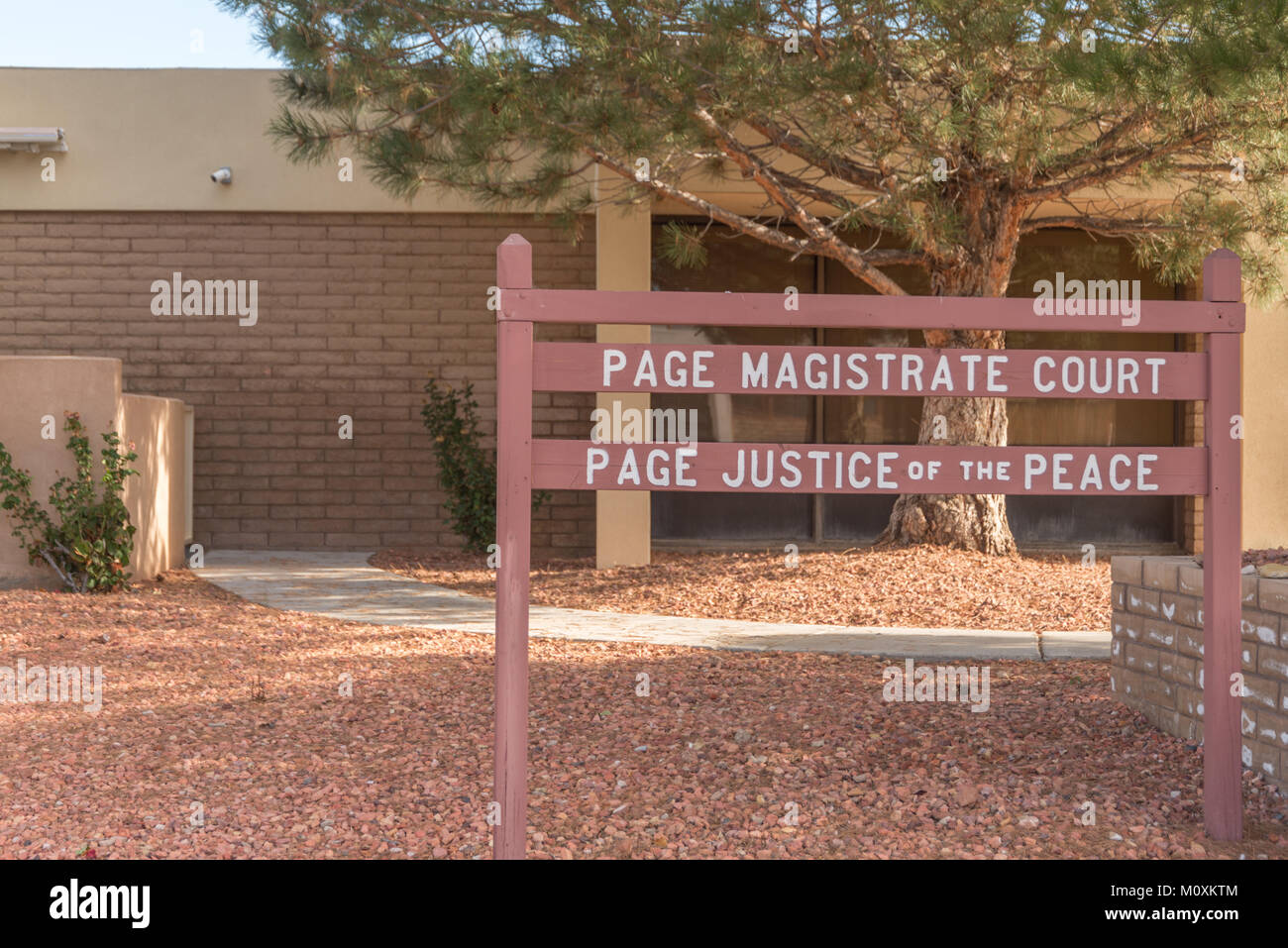 Page Magistrate Court in Page Arizona - Stock Image