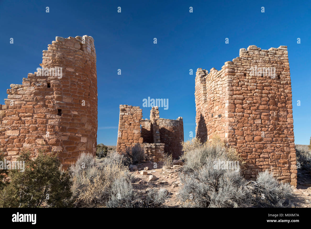 Hovenweep National Monument, Utah - Hovenweep Castle, part of the Square Tower Group of Anasazi ruins situated around - Stock Image