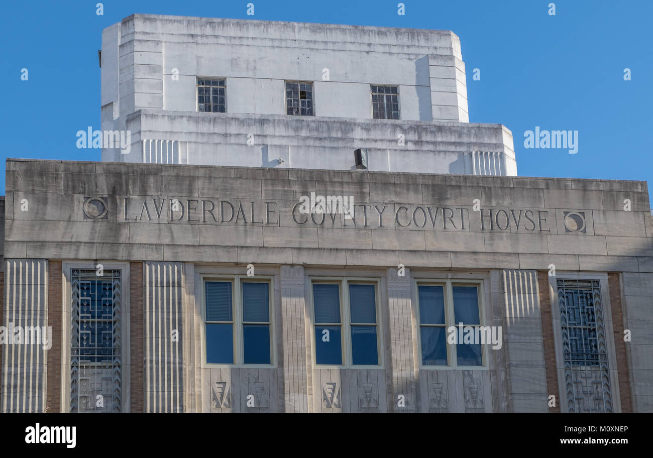 Lauderdale County Courthouse in Meridian Mississippi Stock