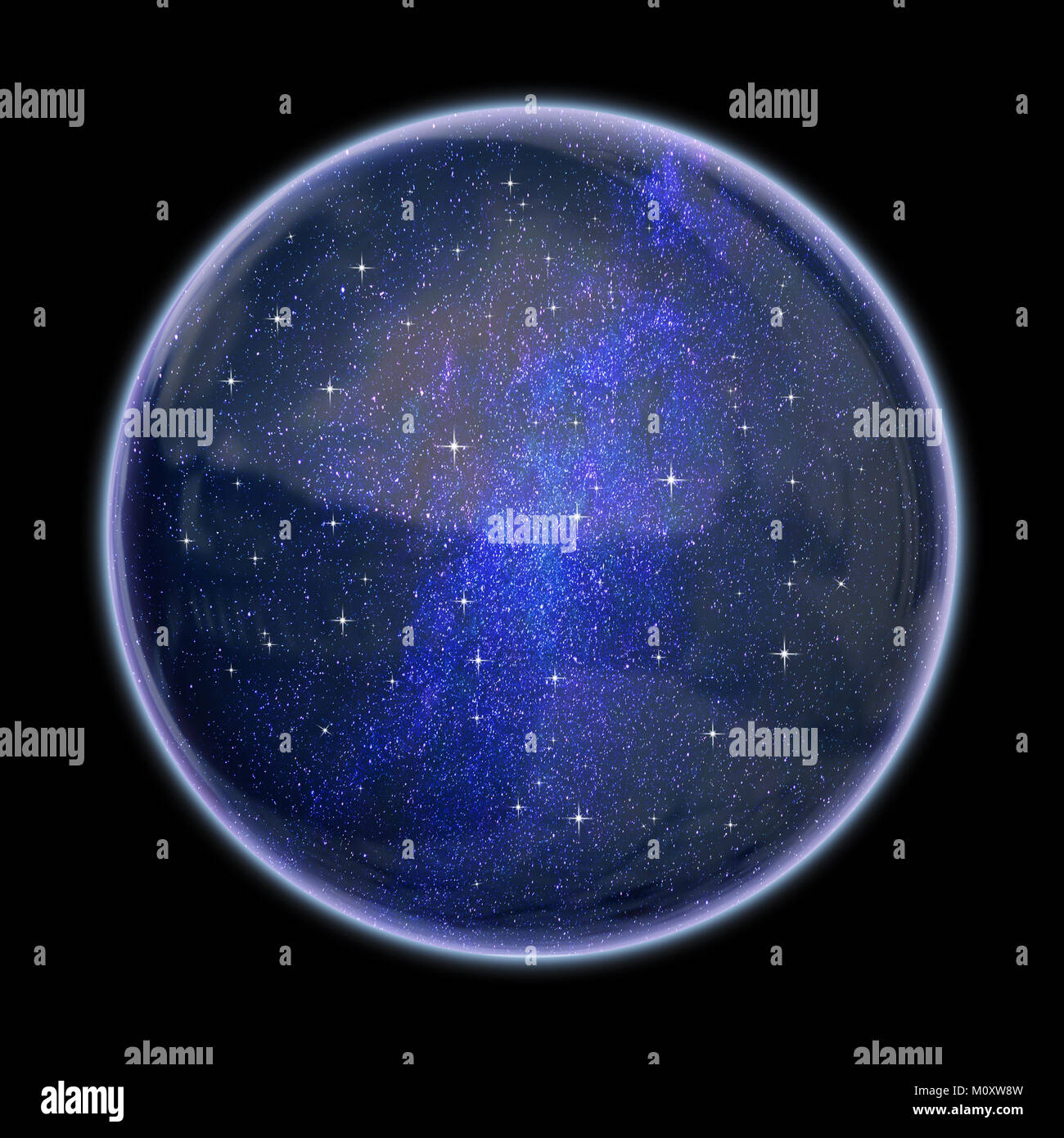 Universe in a bubble - Stock Image