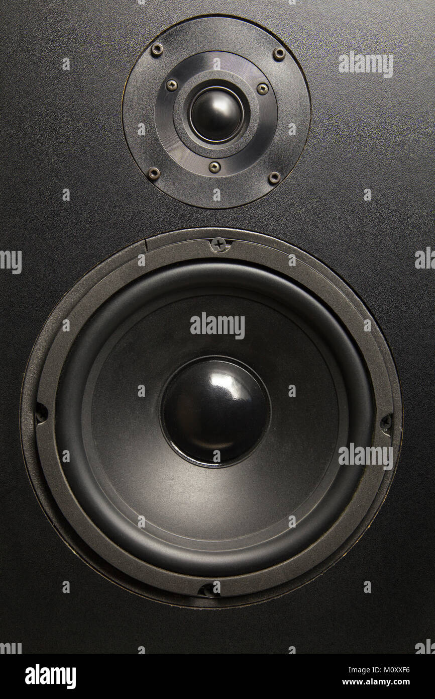 1980s Stereo Load Speaker - Stock Image