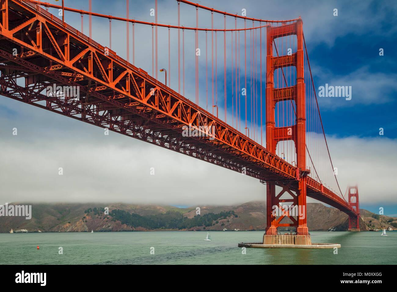 Golden Gate Bridge , San Francisco - Stock Image