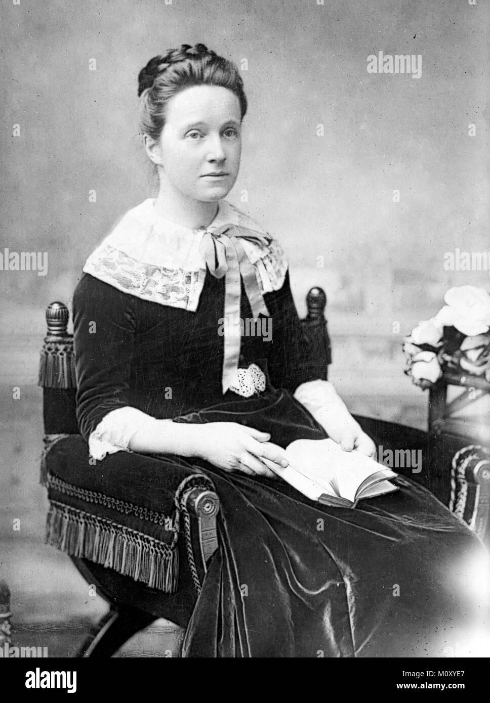 Millicent Fawcett, Mrs. Millicent Fawcett, Dame Millicent Garrett Fawcett, (1847 – 1929) British feminist and writer. Campaigner for women to have the vote. Stock Photo