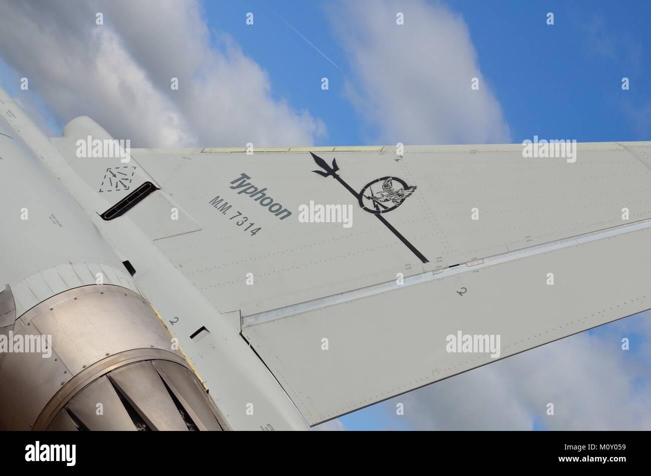 Eurofighter Typhoon Tailplane Details - Stock Image