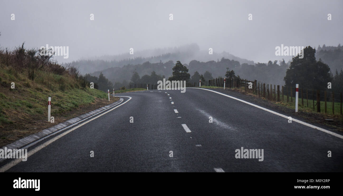 On the road in New Zealand - Stock Image