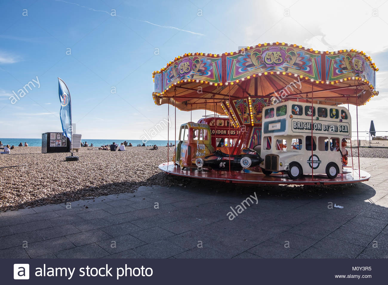 pictures of BRIGHTON, UK with the Pier, the gardens, the beaches and the city centre streets - Stock Image