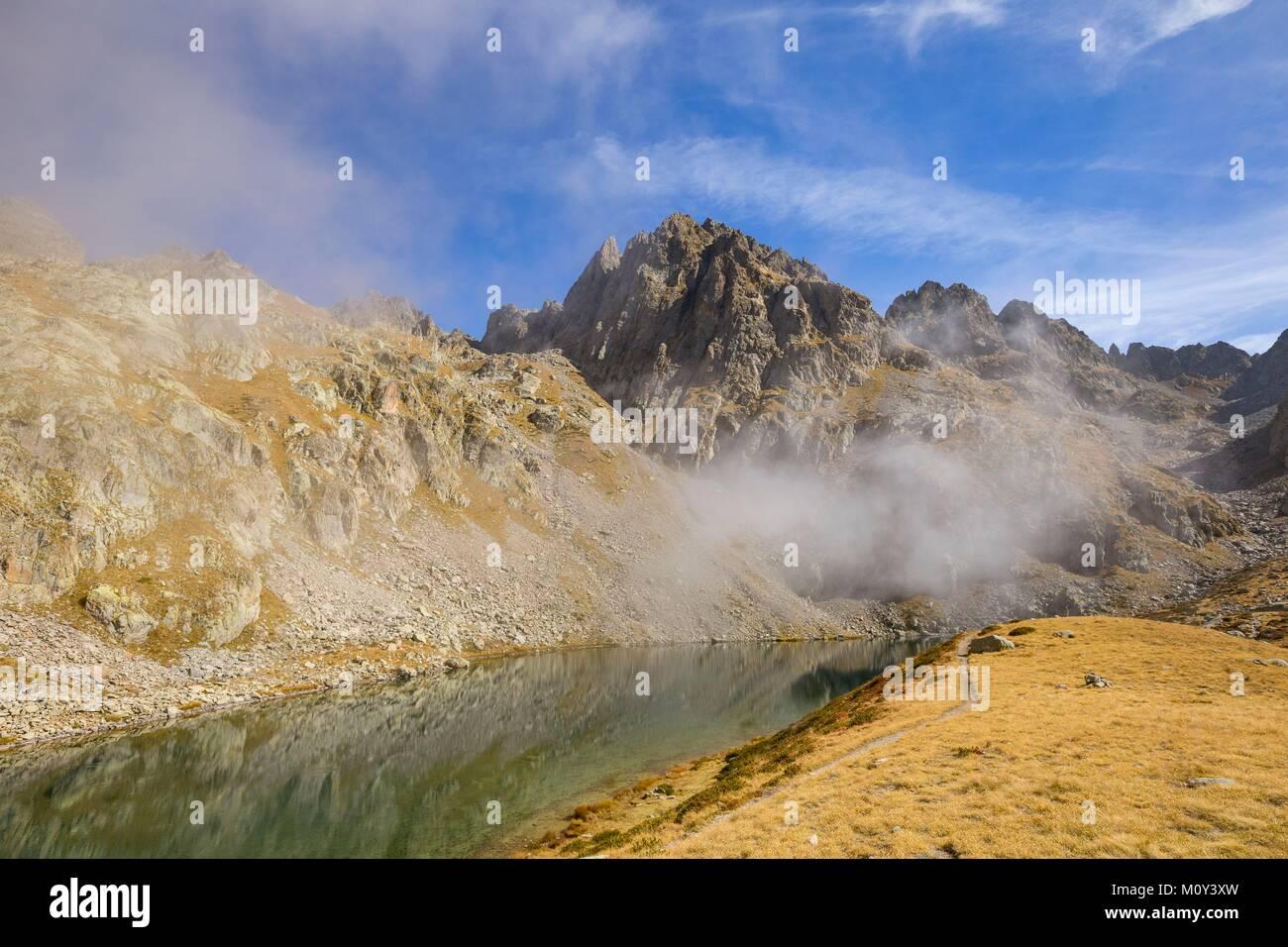 France,Alpes-Maritimes,Mercantour National Park,Gordolasque Valley,lake Autier (2275m) Stock Photo