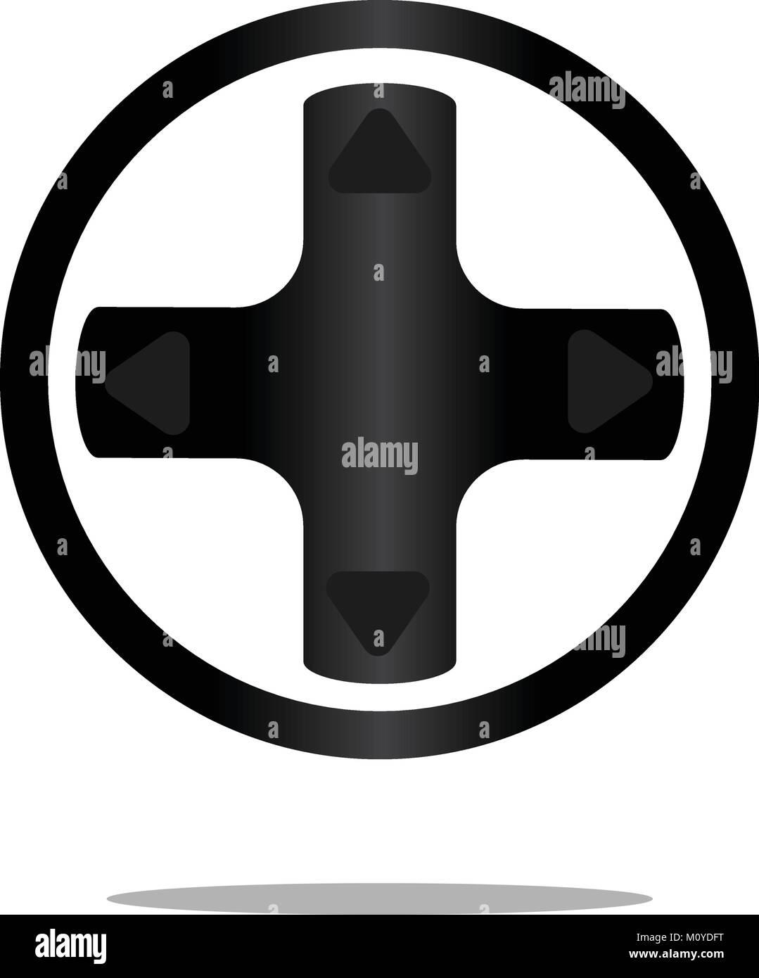 Video games symbol - Stock Image