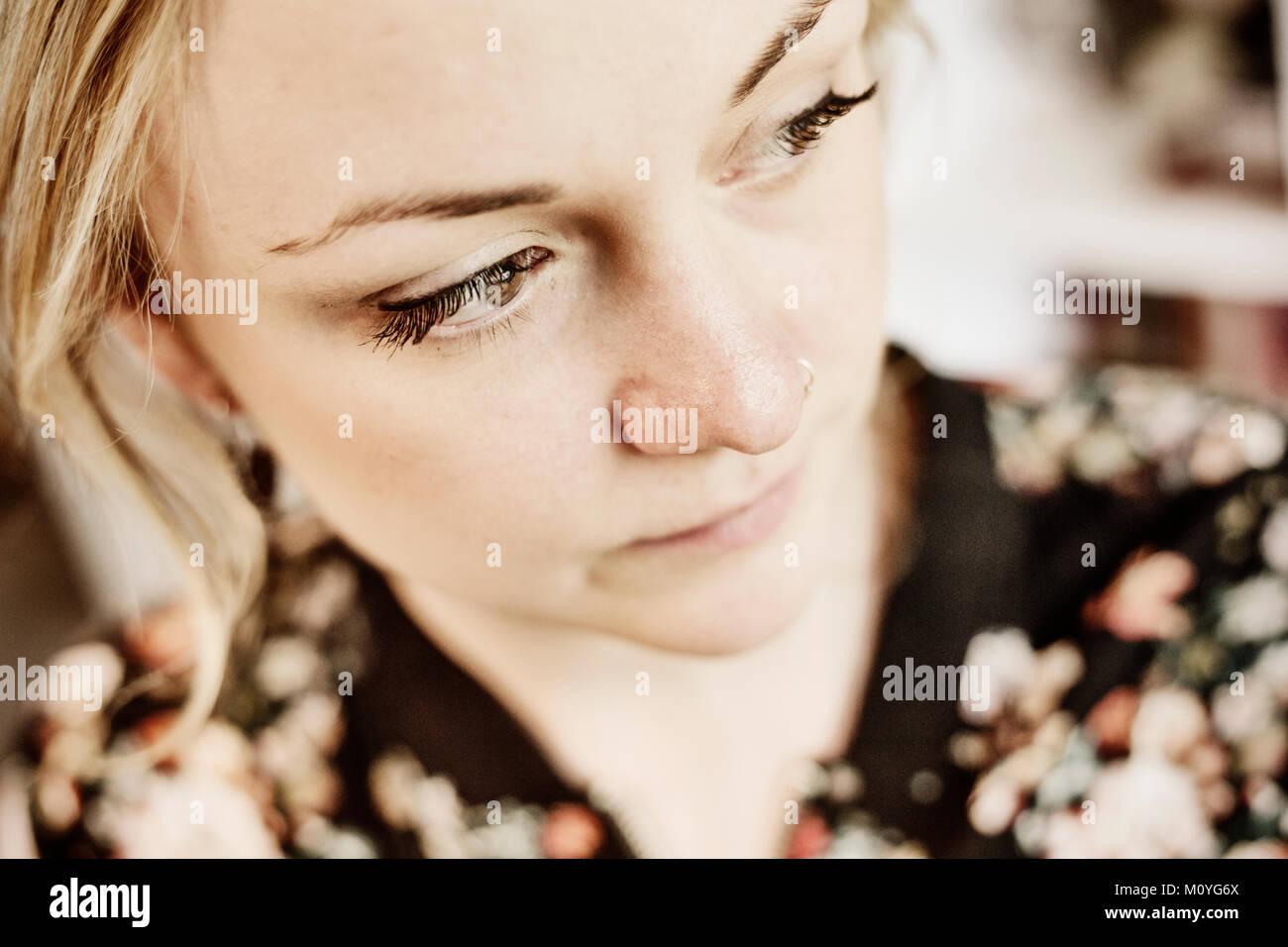 Nose Piercing Stock Photos & Nose Piercing Stock Images - Alamy