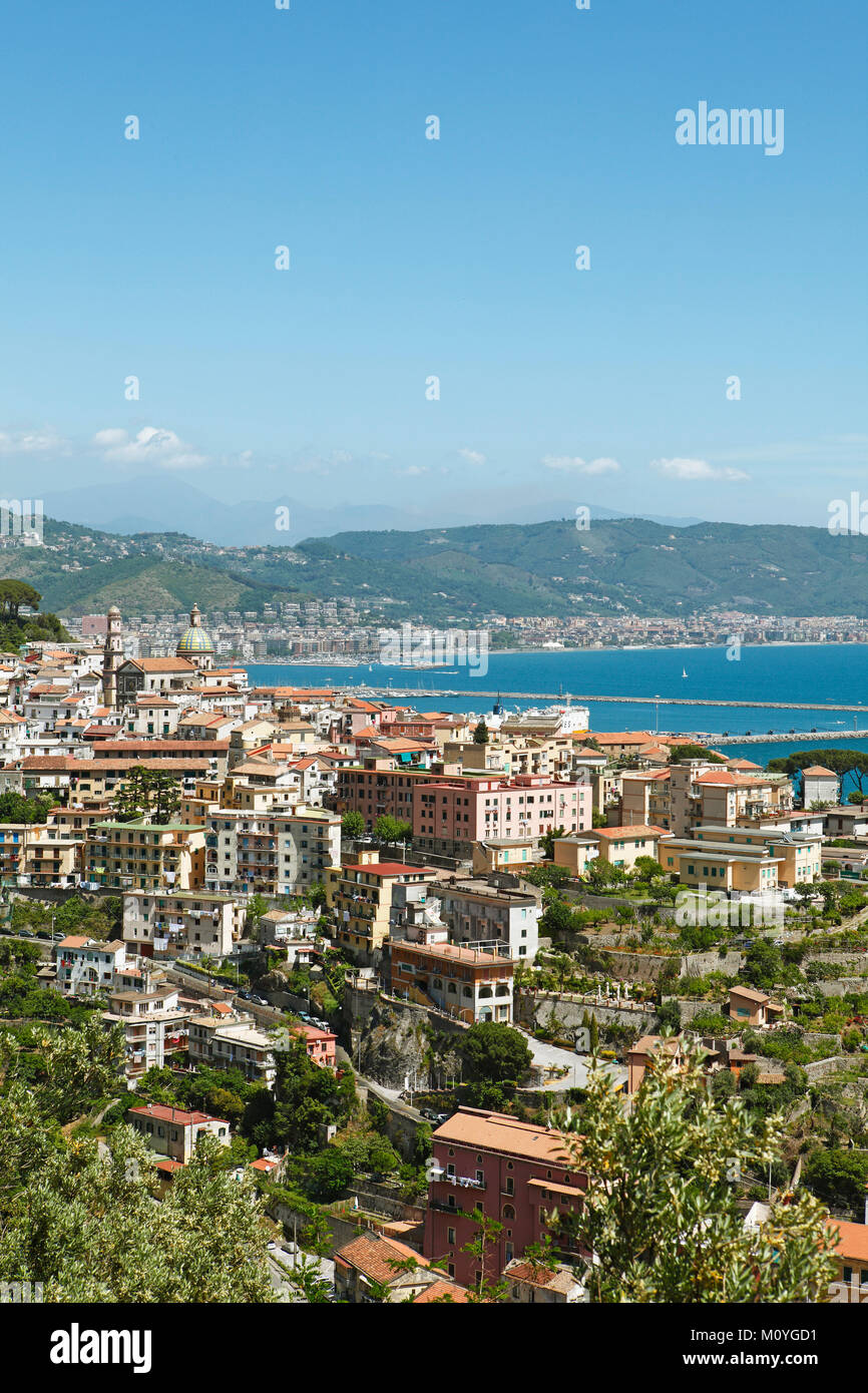 City view,Vietri-sul-Mare,Amalfi Coast,Campania,Italy Stock Photo