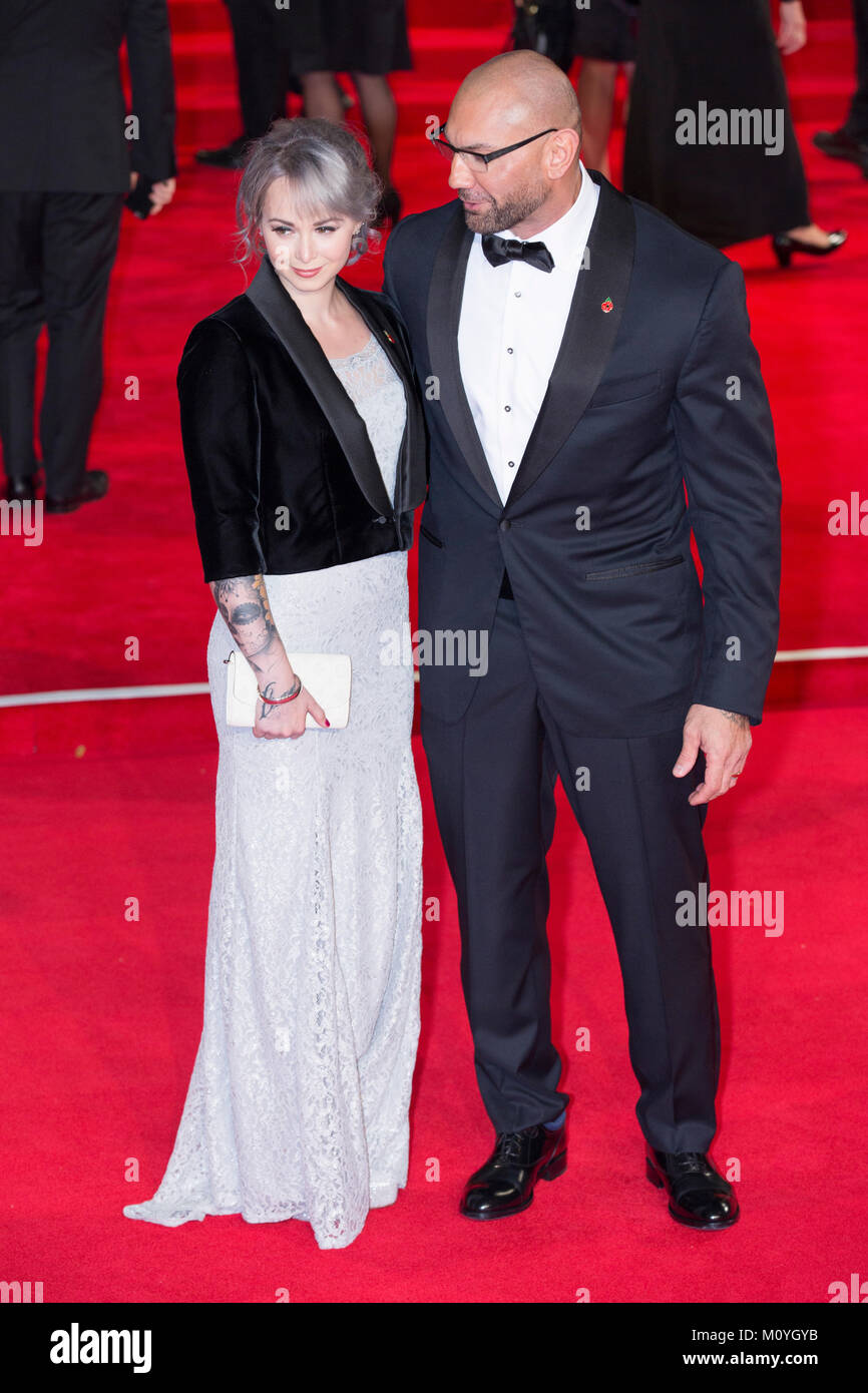 London, UK, 26 October 2015, Dave Bautista attends the World premiere of 'Spectre' at the Royal Albert Hall. - Stock Image