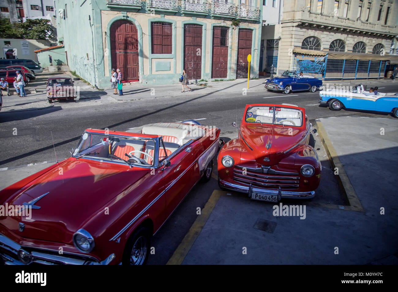 Red Convertibles - Stock Image