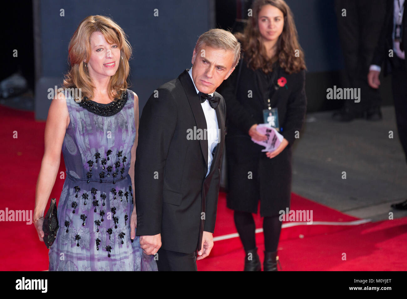 London, UK, 26 October 2015, Christoph Waltz attends the World premiere of 'Spectre' at the Royal Albert - Stock Image