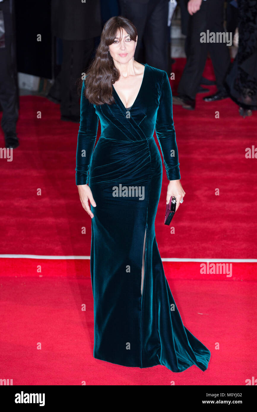 London, UK, 26 October 2015, Monica Ballucci attends the World premiere of 'Spectre' at the Royal Albert - Stock Image