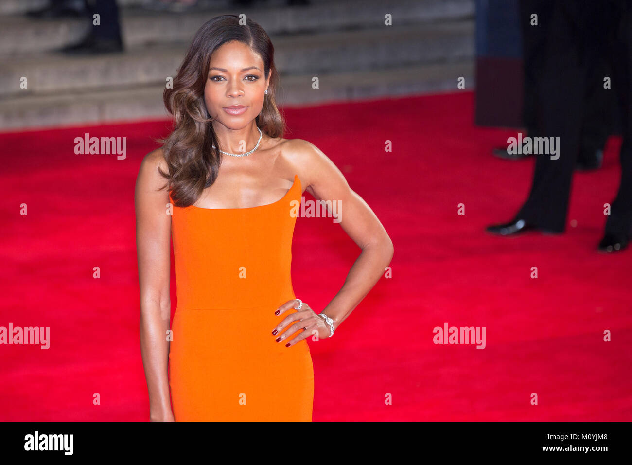 London, UK, 26 October 2015, Naomie Harris attends the World premiere of 'Spectre' at the Royal Albert Hall. - Stock Image