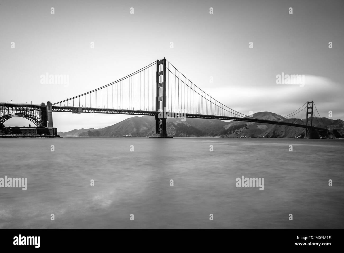Golden Gate Bridge, San Francisco, California, USA - Stock Image