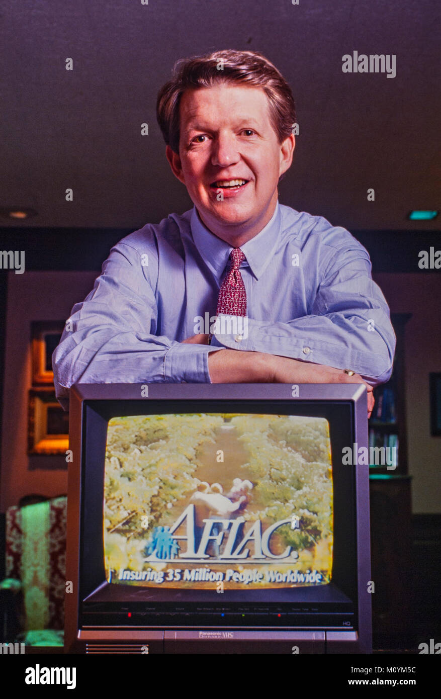 Daniel P. Amos in his AFLAC headquarters office in Columbus, Georgia. Amos began successfully advertising the company Stock Photo