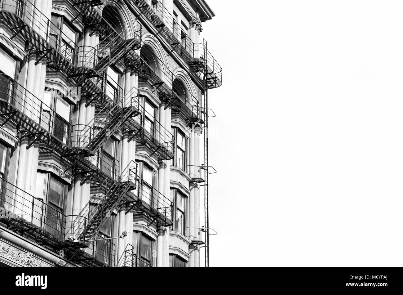 Traditional Victorian architecture of residential building Stock Photo