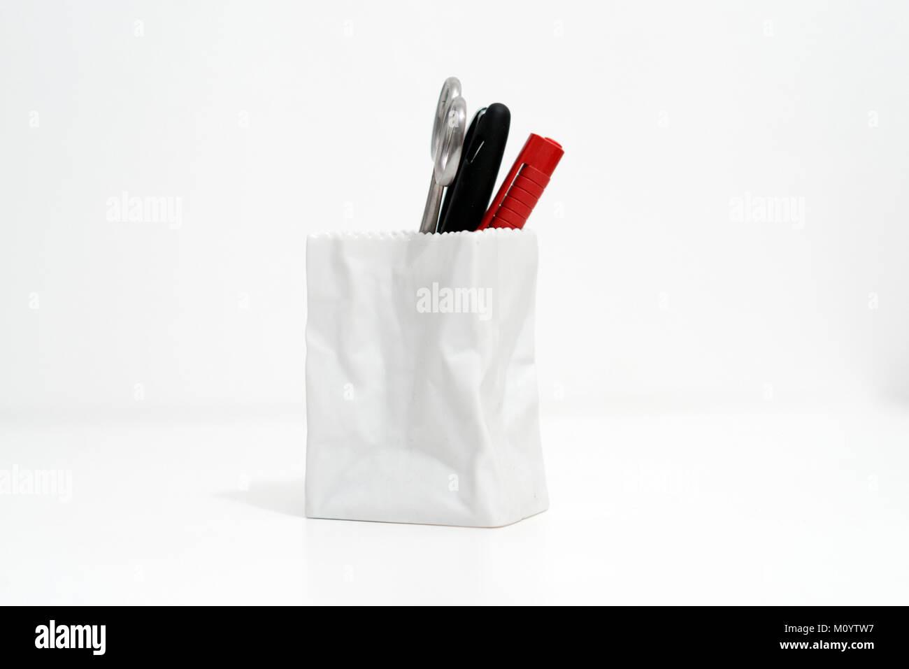 Pen holder minimal - Stock Image