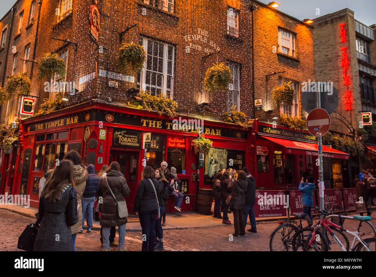 Temple Bar, Dublin, Ireland, Europe - early evening - Stock Image