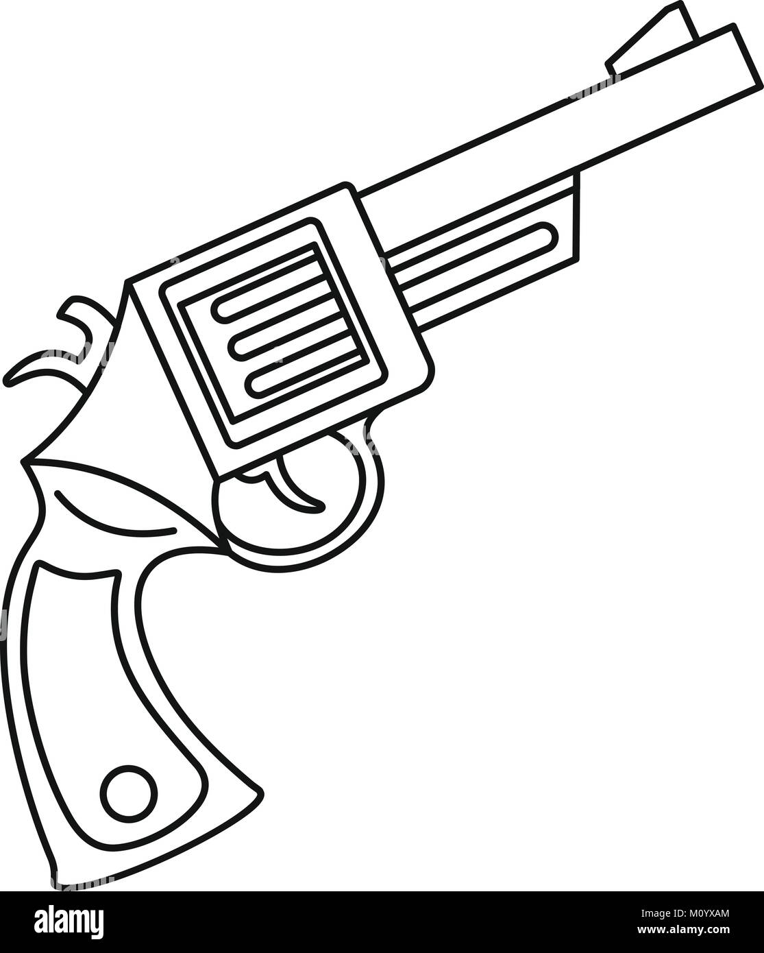 ammunition black and white stock photos images page 3 alamy 18th Century Destroyer vintage revolver icon outline style stock image