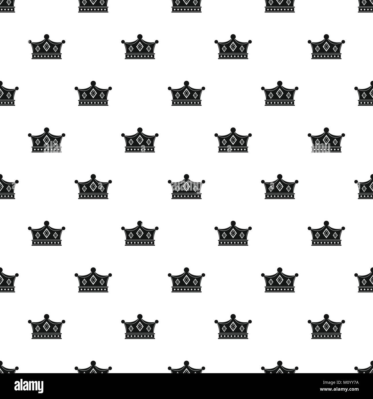Monarchy crown pattern vector - Stock Vector