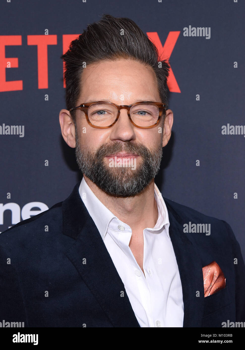 Hollywood, California, USA  24th Jan, 2018  Todd Grinnell arrives