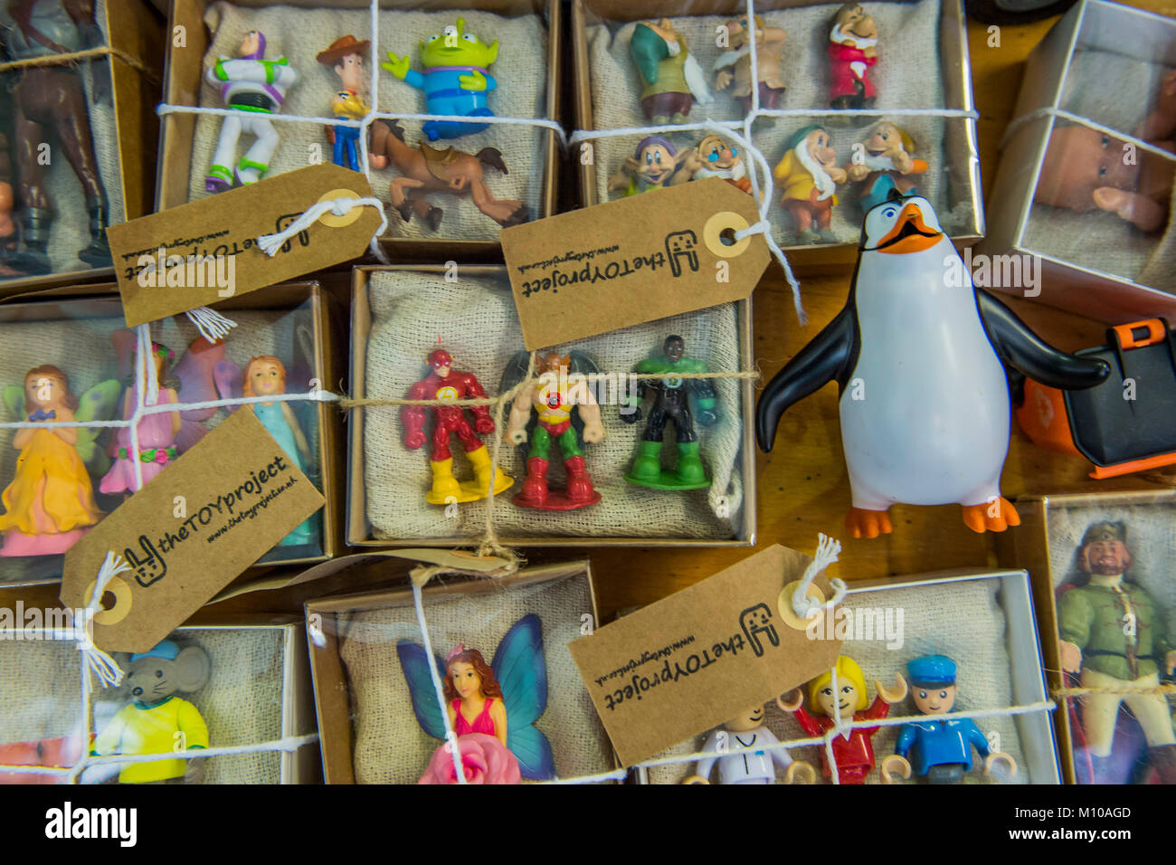 London, UK. 25th Jan, 2018. Toys saved from landfill by The Toy Project Charity, which recycles unwanted toy to - Stock Image