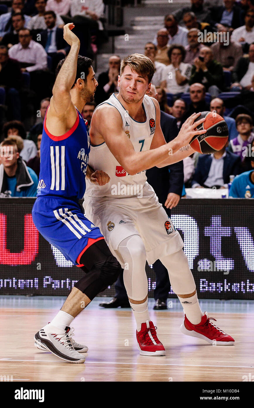 8d55ee671 Luka Doncic (Real Madrid Baloncesto) breaks away from the defence Dogus  Balbay (Anadolu Efes)