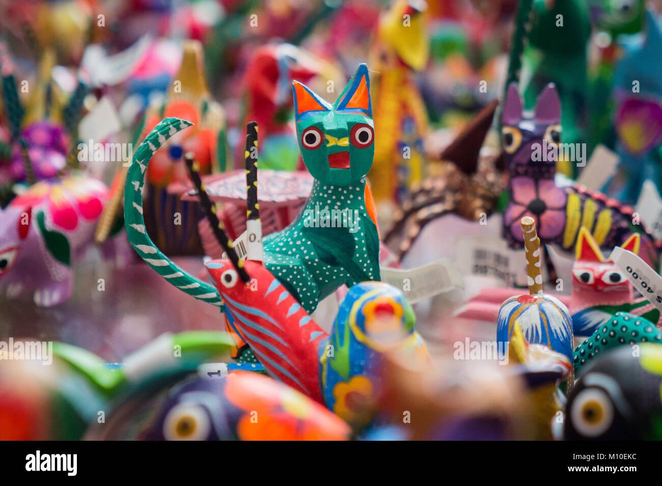Toys for Sale, Oaxaca, Mexico Stock Photo