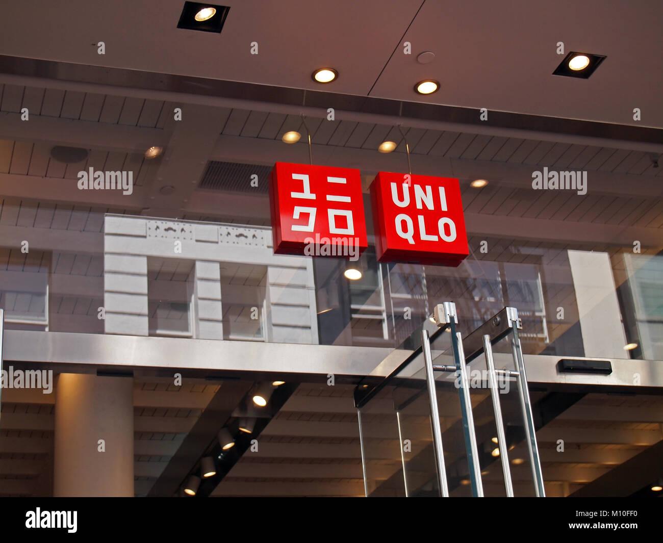 UNIQLO sign in San Francisco, California - Stock Image