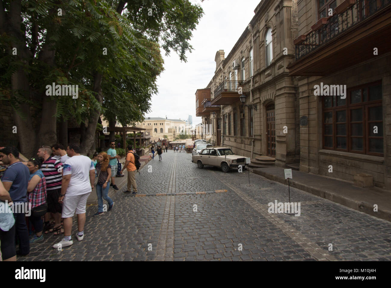 is the historical core of Baku, the capital of Azerbaijan,  including the Palace of the Shirvanshahs and Maiden - Stock Image