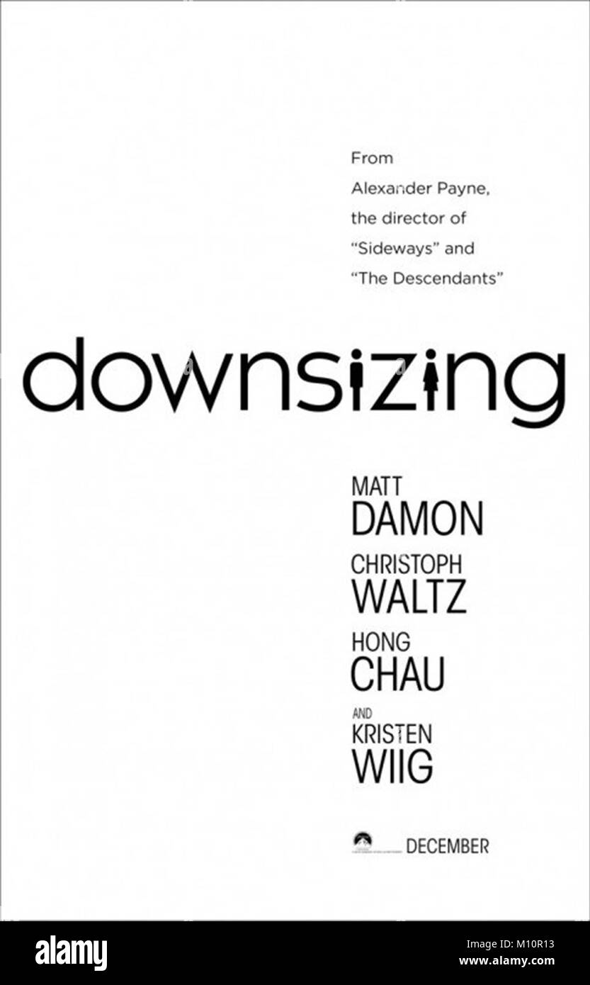 DOWNSIZING (2017)  ALEXANDER PAYNE (DIR)  PARAMOUNT/MOVIESTORE COLLECTION LTD - Stock Image