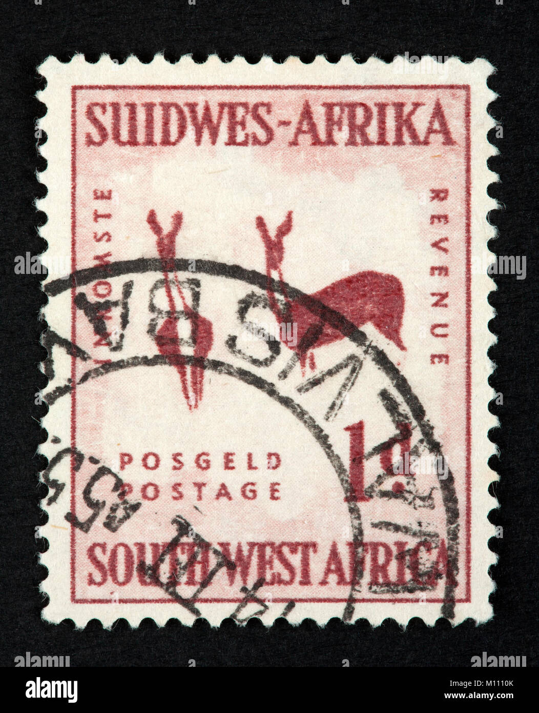 South West African postage stamp - Stock Image