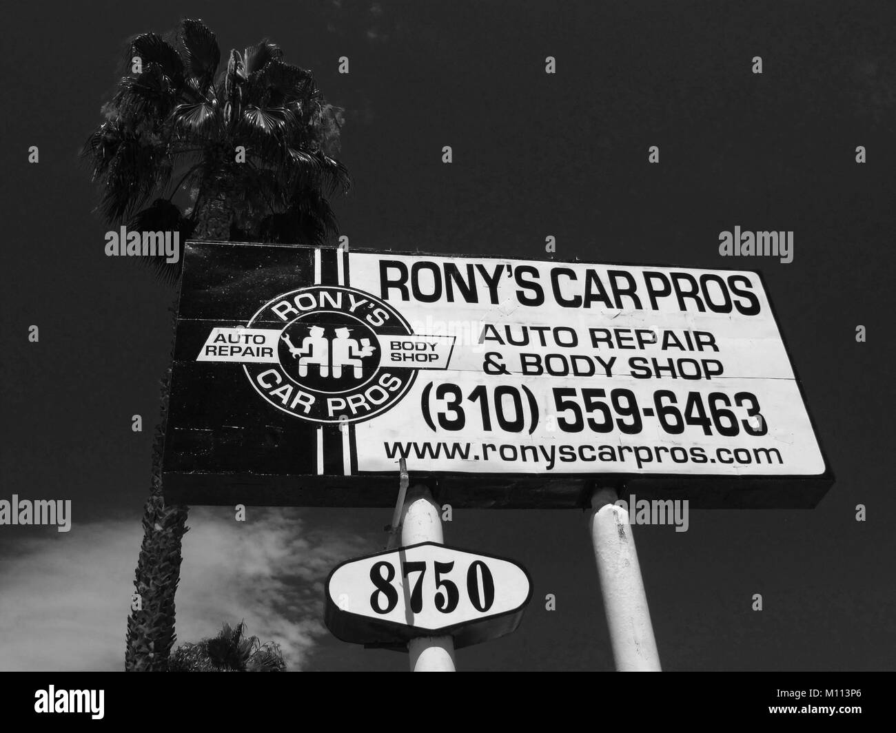 Signs in Los Angeles California America - Stock Image
