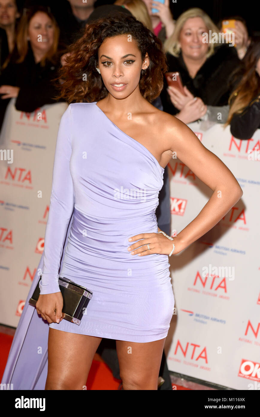 Photo Must Be Credited ©Alpha Press 079965 23/01/2018 Rochelle Humes Wiseman National Television TV Awards - Stock Image