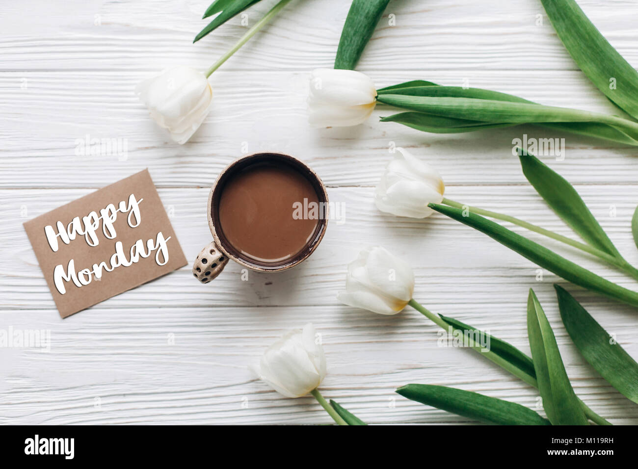 Morning Greeting With Flowers Stock Photos Morning Greeting With