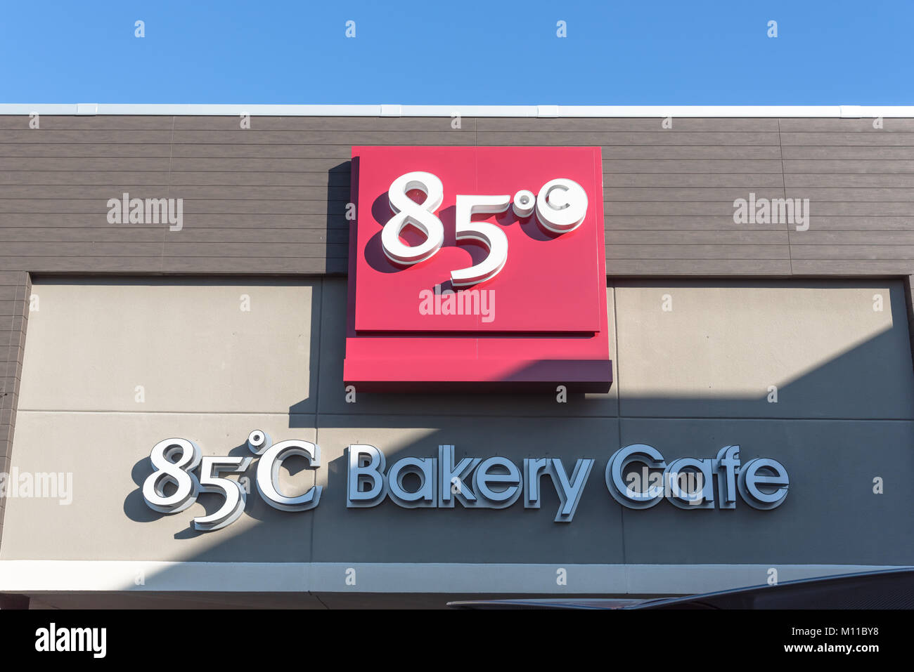 85 C Bakery Cafe founded in 2003 by Wu Cheng-Hsueh - Stock Image