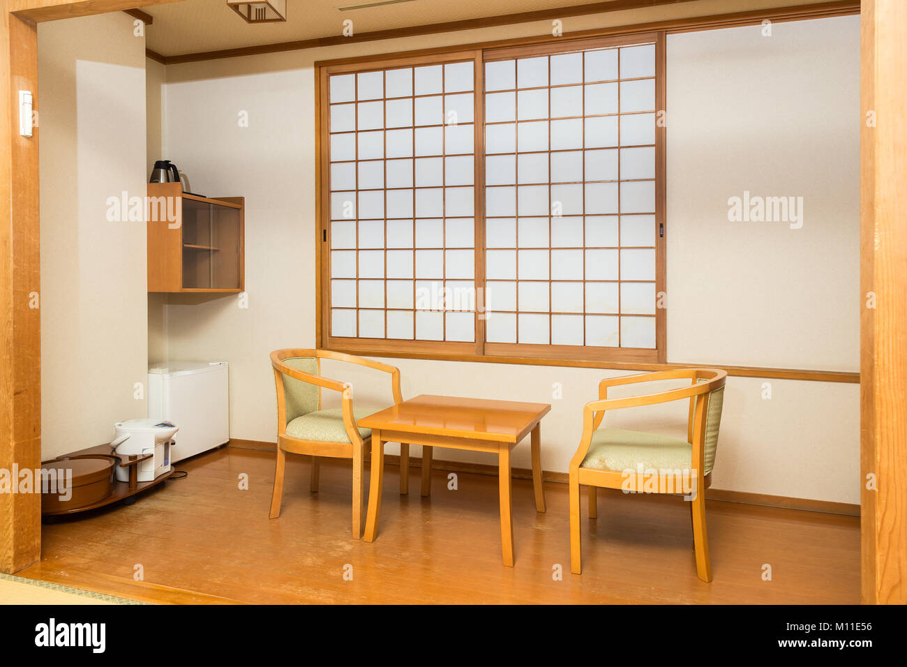 Building japanese furniture Diy Japanese Style Room In Home Or Hotel With Traditional Slideing Windows And Wood Furniture Alamy Japanese Style Room In Home Or Hotel With Traditional Slideing
