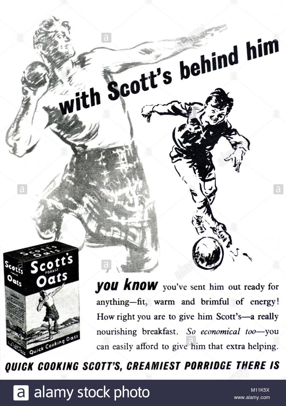 Scotts Porage oats Vintage advertising poster reproduction.