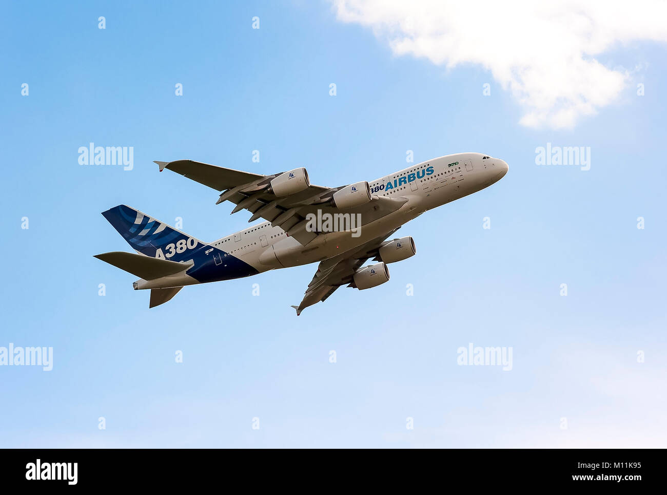 Prototype Airbus A380 at an airshow in Gloucestershire England UK - Stock Image