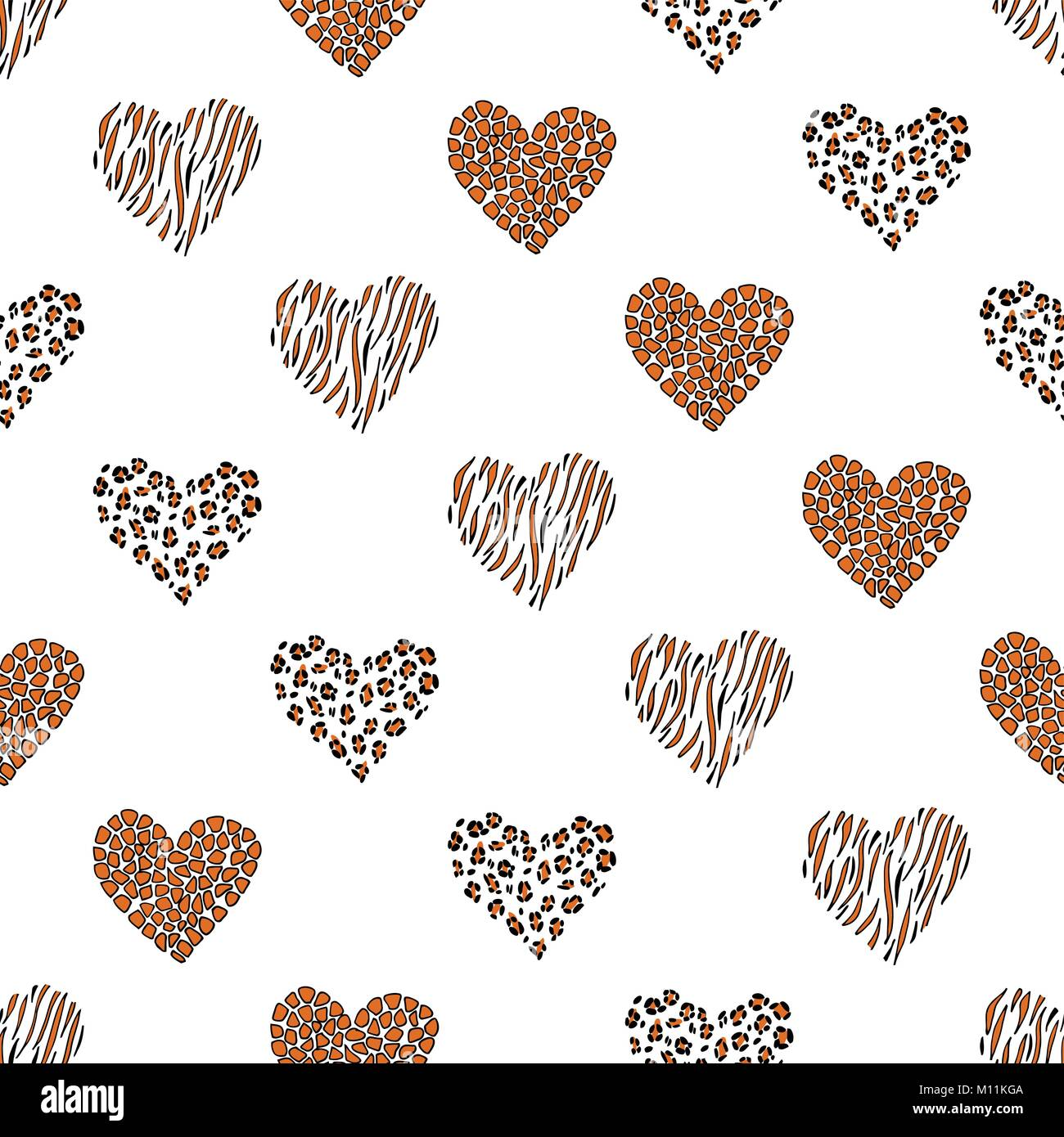 Seamless pattern background with heart - Stock Image