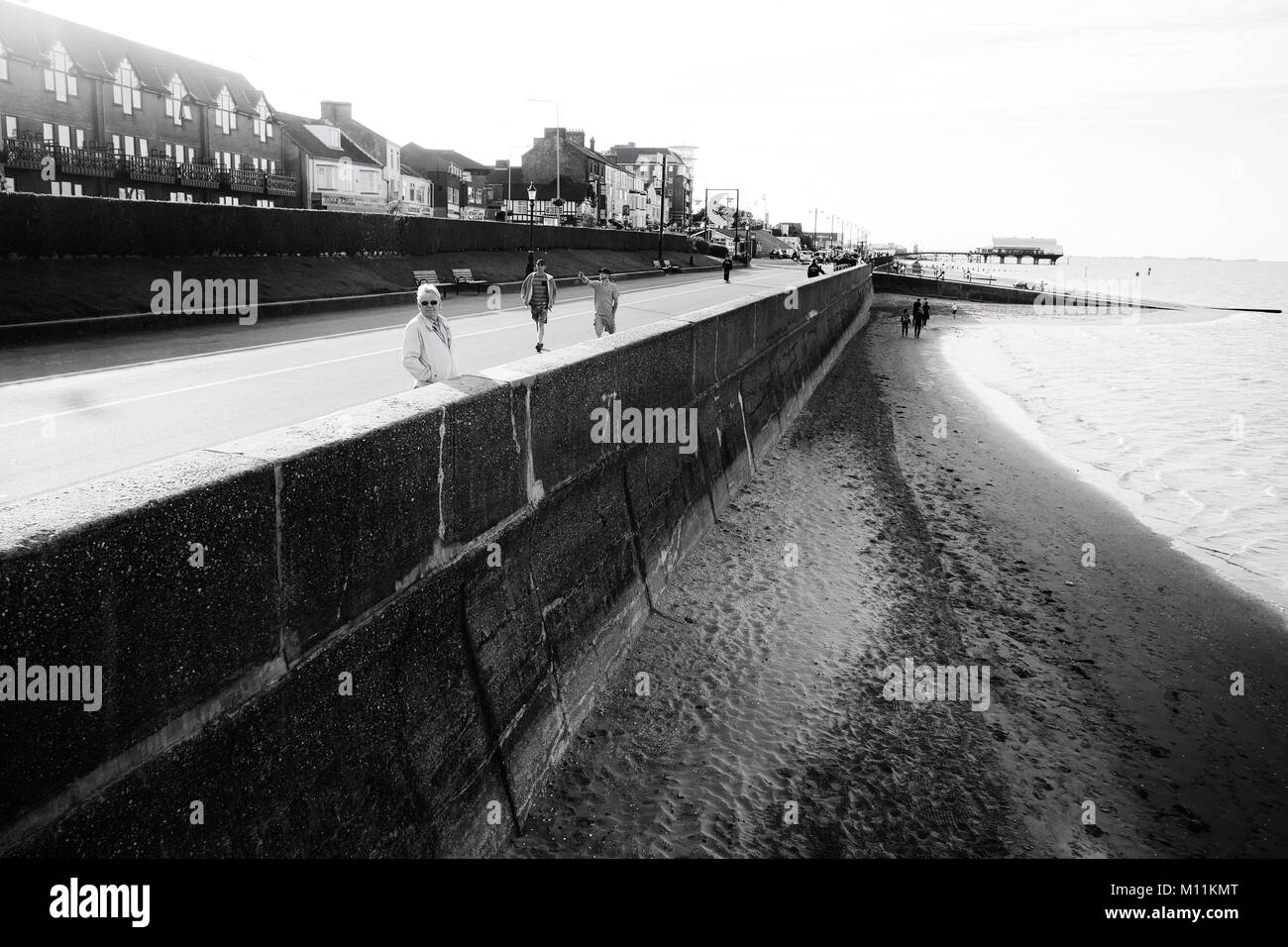 Cleethorpes beach - Stock Image