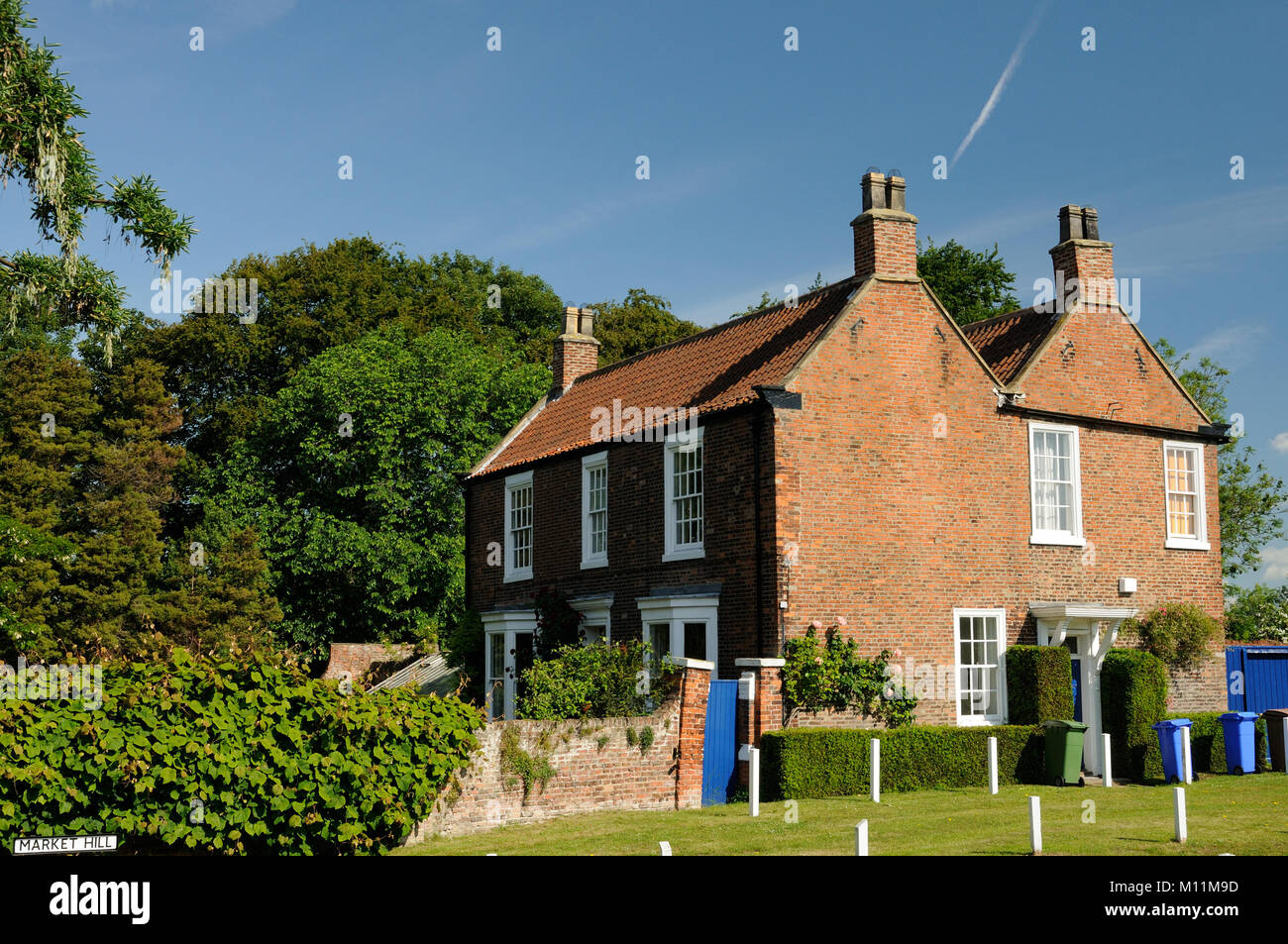 Ivy House, a grade II listed building, in Hedon, East Yorkshire, England Stock Photo